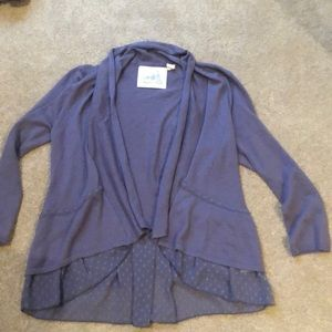 Anthropologie purple sweater
